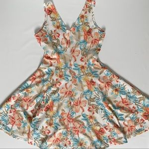 Candy Couture A-line textured floral pattern dress